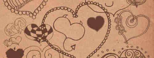 爱心涂鸦笔刷