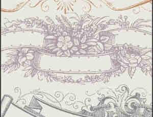 装饰性边框笔刷
