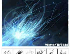 冬天的风流光笔刷