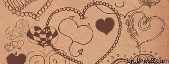 心情涂鸦笔刷