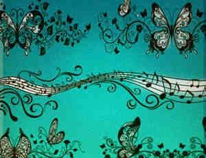 蝴蝶花纹笔刷