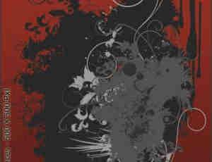 非主流式花卉笔刷