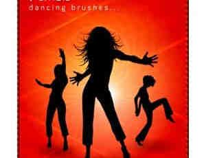 舞蹈的女人人物背景笔刷