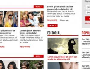 一款杂志型主题网站模版