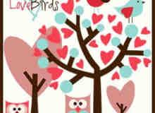 卡通爱情小鸟笔刷