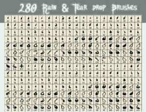 280种雨滴眼泪笔刷