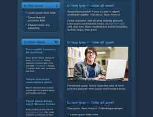 漂亮的深蓝主题网站模版
