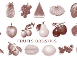 水果蔬菜笔刷