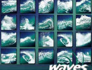 多种大海的波浪与海浪笔刷
