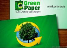 30张绿色调名片设计范例