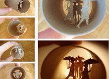 24张生活创意卫生纸卷筒的立体剪影艺术