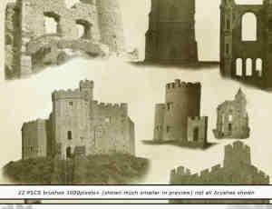 古欧洲城堡笔刷
