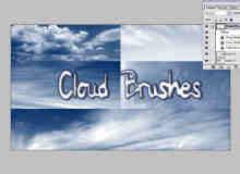 高空蓝色云朵笔刷