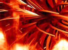 混乱抽象的火焰背景笔刷