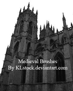 中世纪建筑笔刷