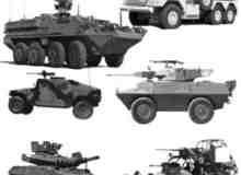 坦克车多功能陆战车笔刷