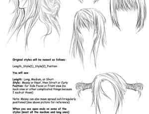 手绘漫画人物发型笔刷