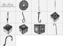吊钩与铁盒子笔刷