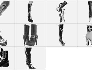 高跟厚底靴笔刷