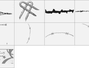 铁栅栏钢丝网笔刷