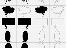 多用途对白框发言框笔刷
