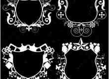 藤蔓式徽章标志笔刷
