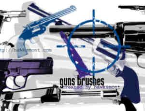 经典左轮手枪、枪械PS笔刷下载