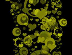 5个非主流式爱心爱情笔刷