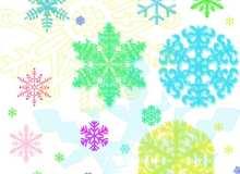 圣诞节下雪装饰笔刷
