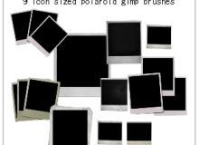 9种不同样式的拍立得相框笔刷