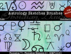 神秘的占卜符号笔刷