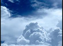 突变的蓝色积雨云笔刷