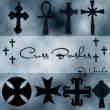 造型各异的十字架笔刷