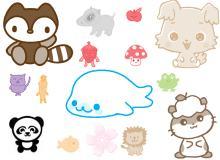 可爱卡通小动物笔刷
