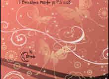细腻的花纹背景笔刷