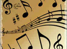 经典的音乐符号笔刷