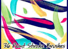 油漆笔触笔刷