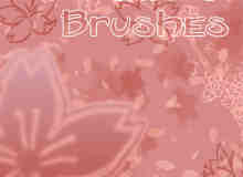 浪漫的樱花花纹笔刷