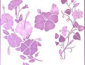 漂亮的紫色印花笔刷