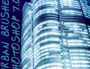 光影城市大楼笔刷