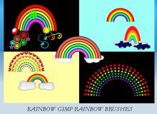 卡通彩虹笔刷