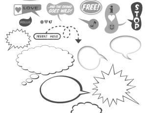 样式各异的对话框笔刷