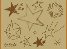 多种星星装饰笔刷
