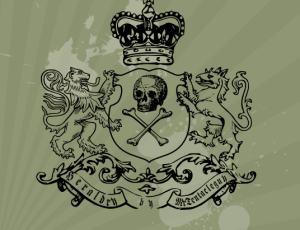 皇冠骷髅头徽章笔刷