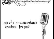 音乐相关的笔刷