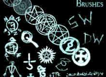 魔鬼恶魔符号笔刷