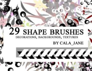 29种样式的形状笔刷