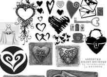 心脏式爱情元素笔刷