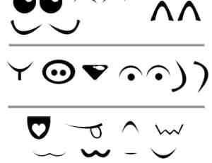 可爱眼睛符号笔刷