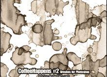 咖啡污渍效果笔刷